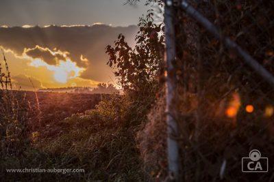 Sonnenuntergang in Burgkirchen an der Alz